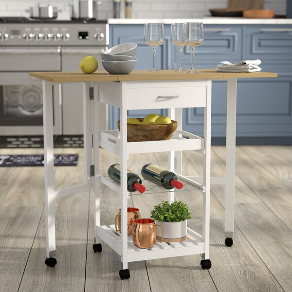 Kitchen Trolley Bar Cart with Drop Down Leaves by Symple Stuff
