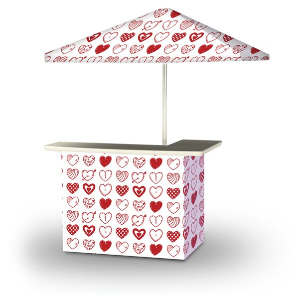 Allensworth Valentines Hearts 2-Piece Home Bar Set by East Urban Home