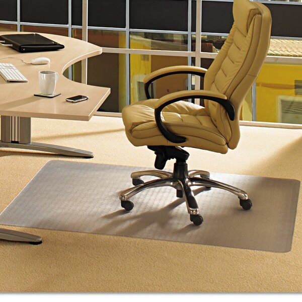 Cleartex Advantagemat Low Pile Carpet Straight Edge Chair Mat by Floortex