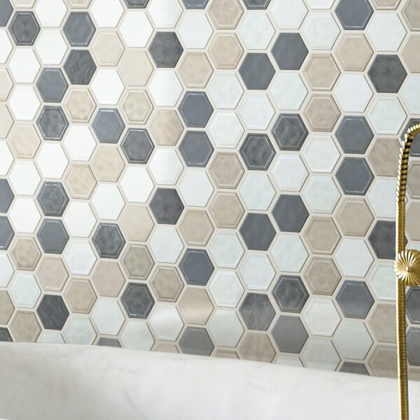 Victoria Hexagon 0.64 x 0.64 Ceramic Mosaic Tile in Warm Blend by Shaw Floors