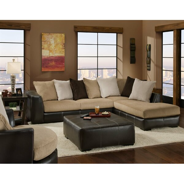 Swinyer Two-Toned Sectional by Red Barrel Studio