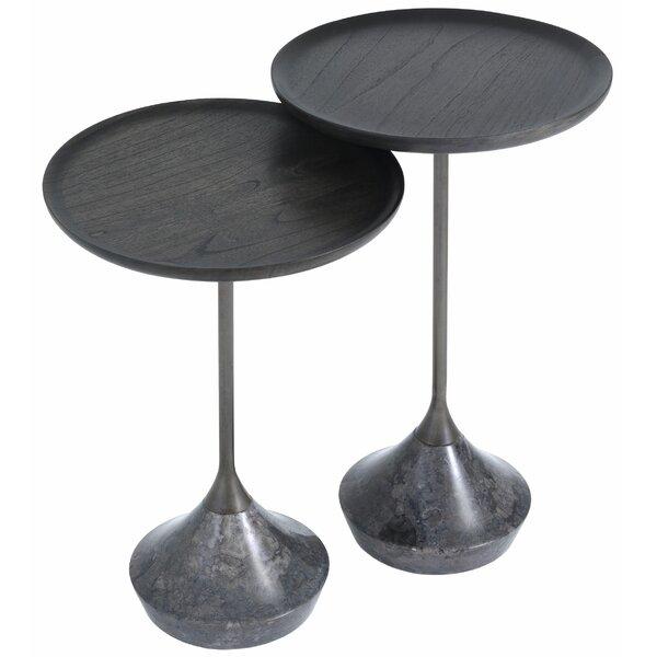 Puglia Tray Top Pedestal Nesting Tables