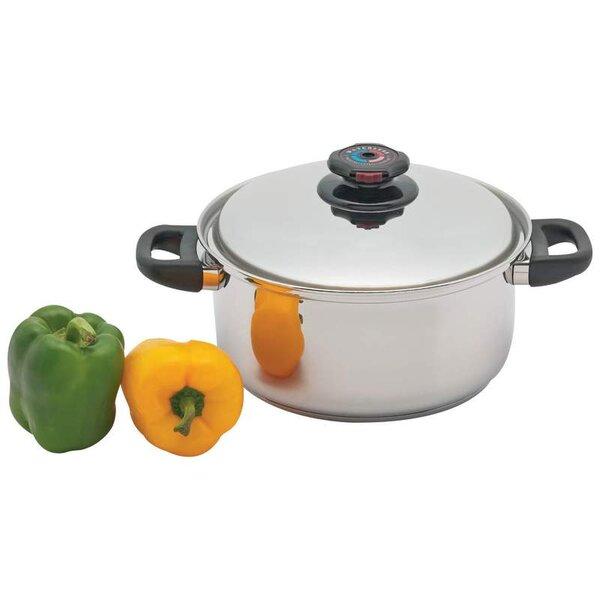 Precise Heat 5.5 Quart Stock Pot with Lid by Chef's Secret