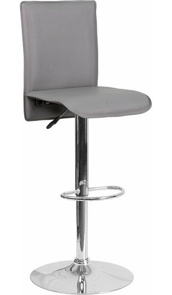 Crotty Mid Back Adjustable Height Swivel Bar Stool by George Oliver George Oliver