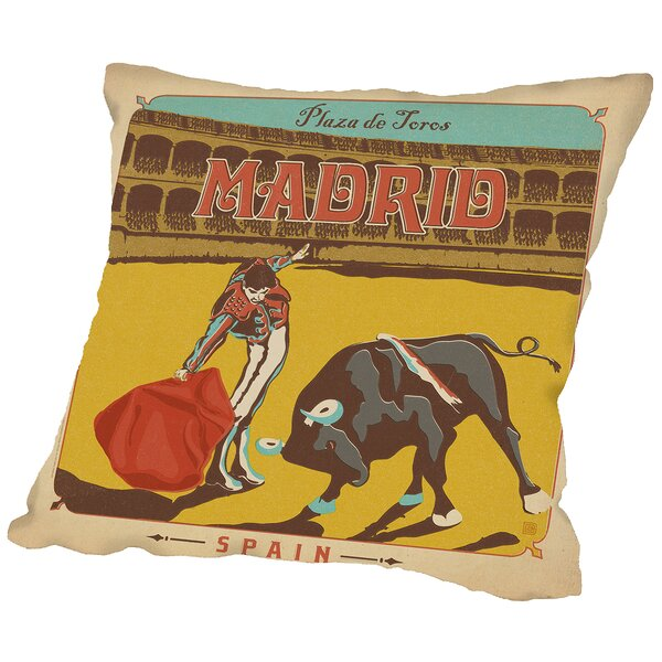 Madrid Throw Pillow by East Urban Home