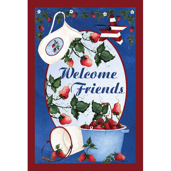 Berries and Cream Welcome Garden flag by Toland Home Garden