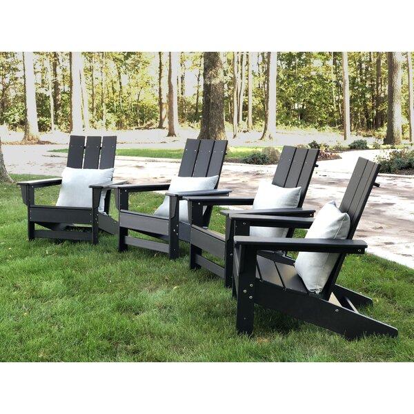 Oakdale Plastic Adirondack Chair (Set Of 4) By Breakwater Bay