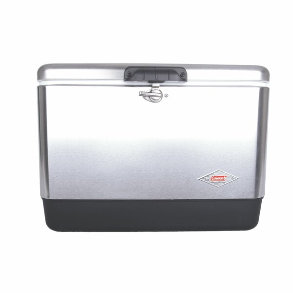 54 Qt. Stainless Steel Belted Cooler by Coleman