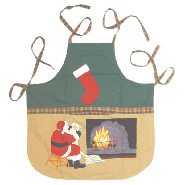Santa By The Fireside Apron by Patch Magic