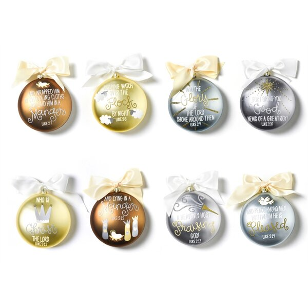 8 Piece The Birth of Christ Ball Ornament Set by Coton Colors