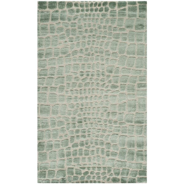 Amazonia Hand-Tufted Teal/Gray Area Rug by Safavieh