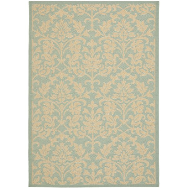 Bexton Aqua / Cream Indoor/Outdoor Rug by Alcott Hill