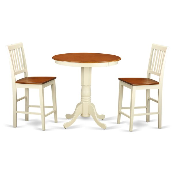 Best #1 Eden 3 Piece Counter Height Pub Table Set By Wooden Importers Read Reviews