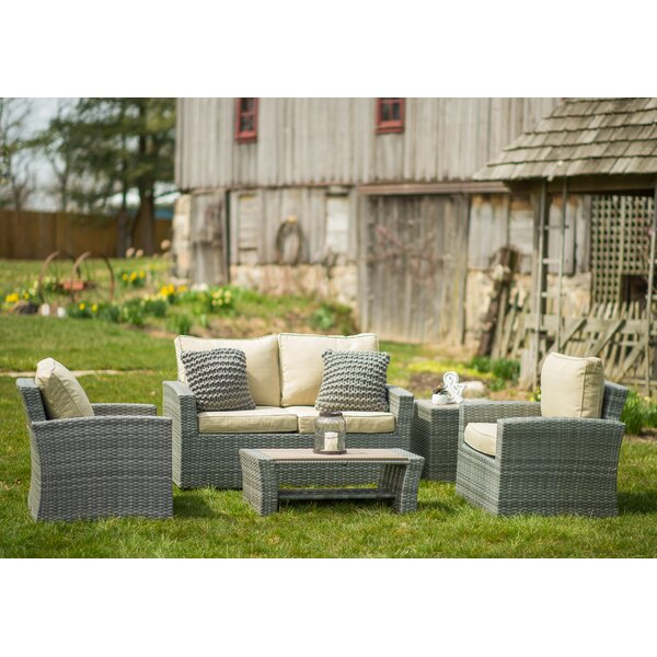Warrenton 5 Piece Sofa Seating Group with Cushions by Brayden Studio
