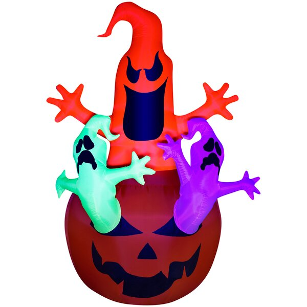 Airblown Pumpkin Ghosts Trio Inflatable by The Holiday Aisle