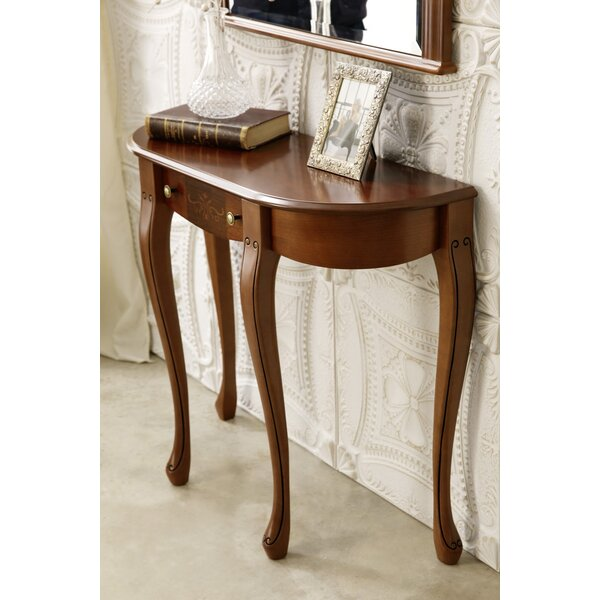 Royce Solid Wood Console Table In , Walnut By Canora Grey