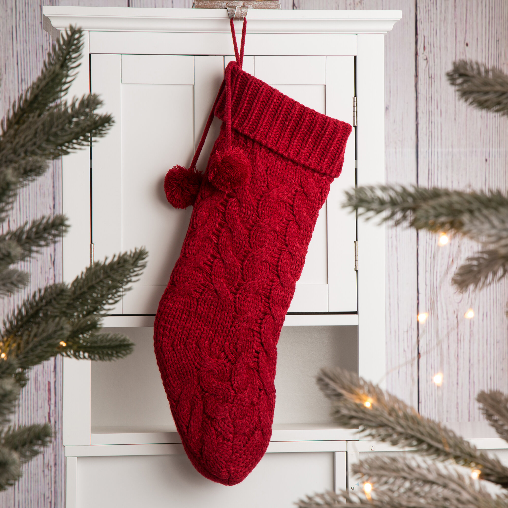 Knitted Christmas Stockings.Knitted Christmas Stocking