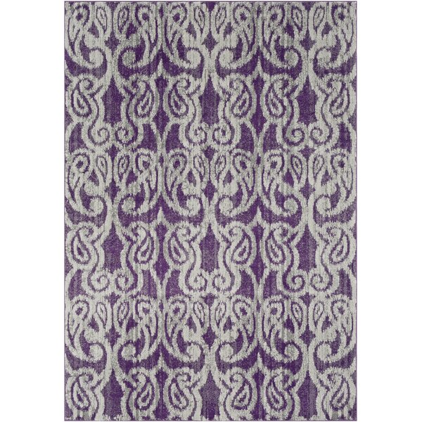 Courtney Eggplant/Gray Area Rug by House of Hampton