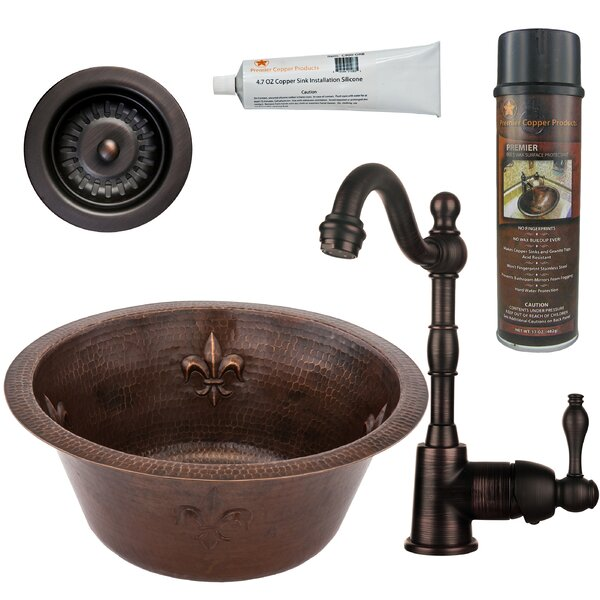 7 L x 16 W Bar Sink with Faucet by Premier Copper Products