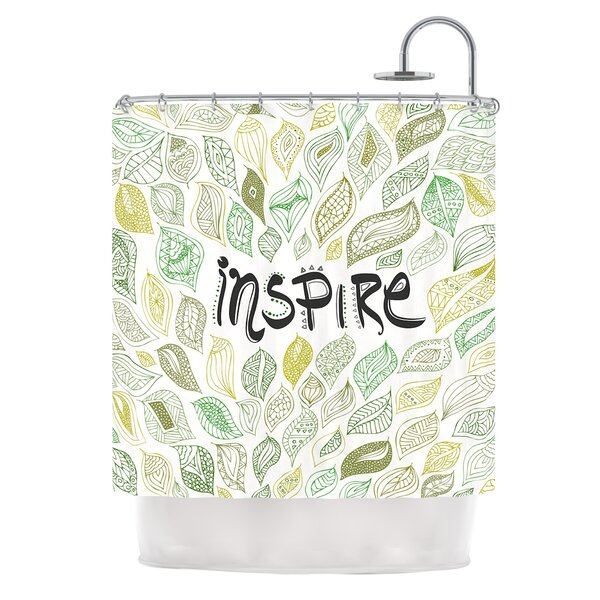 Inspire Nature by Pom Graphic Design Shower Curtain by East Urban Home