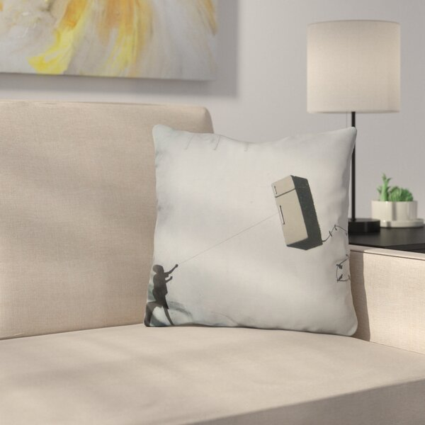 Fridge Kite Throw Pillow by East Urban Home