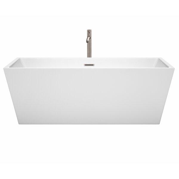 Sara 67 x 31.5 Freestanding Soaking Bathtub by Wyndham Collection