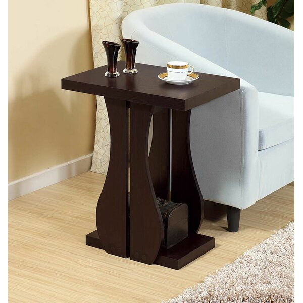 Melin Chairside Pedestal End Table With Storage By Ebern Designs