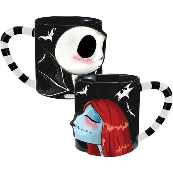 Nightmare Before Christmas Coffee Mug.Nightmare Before Christmas 2 Piece Ceramic Coffee Mug Set