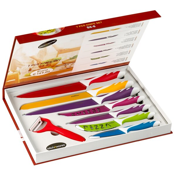 8 Piece Kitchen Knife Set by Kitch N' Wares