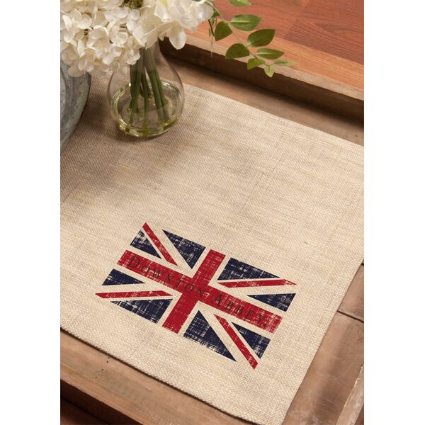 Downton Abbey British Union Jack Decorative Table Placemats (Set of 4) by Northlight Seasonal