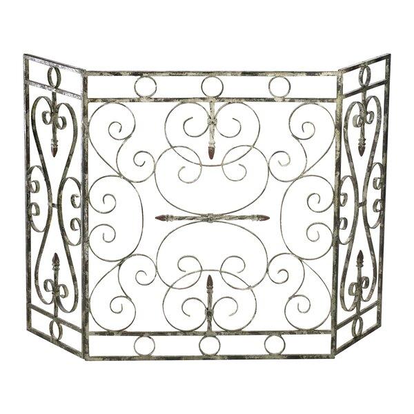 Crawford 3 Panel Iron Fireplace Screen By Cyan Design