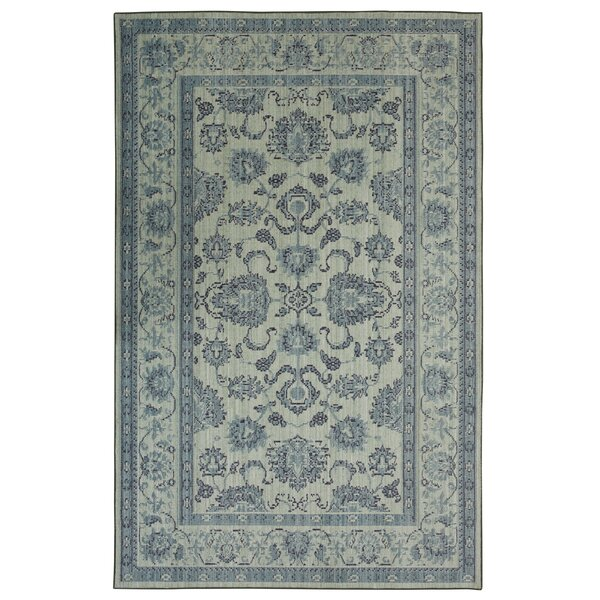 Kavya Traditional Aqua Area Rug by Bungalow Rose