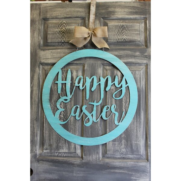 Happy Easter Door Hanger Sign by Southern Steel Designs