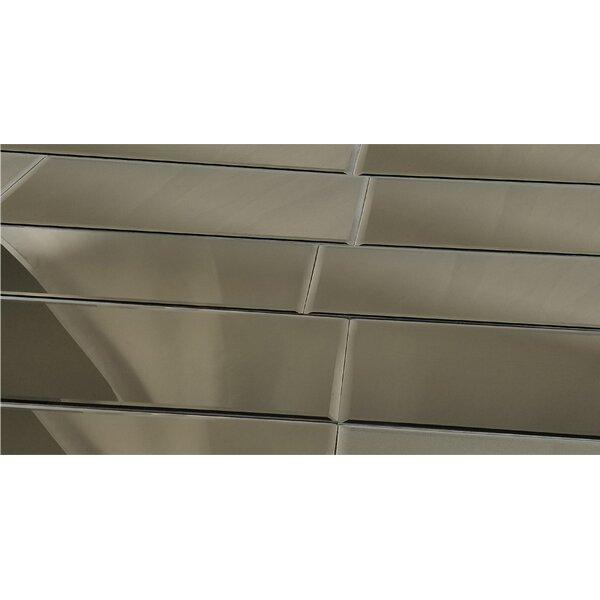 Echo 12 x 24 Mirror Glass Field Tile in Gray by Abolos