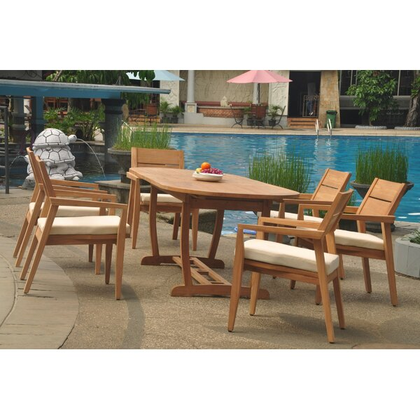 Crissyfield 7 Piece Teak Dining Set by Rosecliff Heights