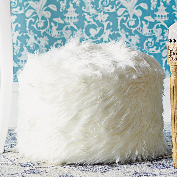 Sallie Fuzzy Pouf by Zipcode Design