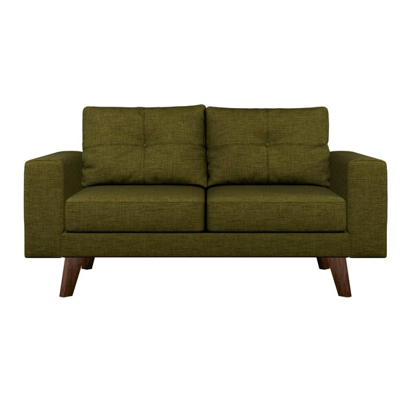 Modern Collection Binns Cross Weave Loveseat by Corrigan Studio by Corrigan Studio