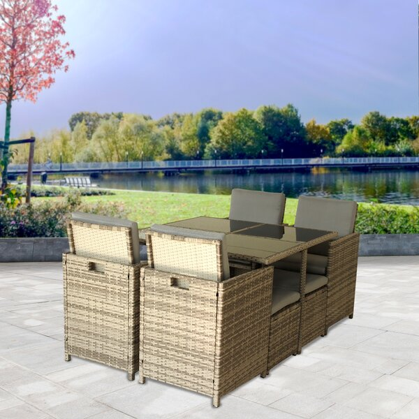 Tardif Outdoor 9 Piece Dining Set with Cushions by Ivy Bronx