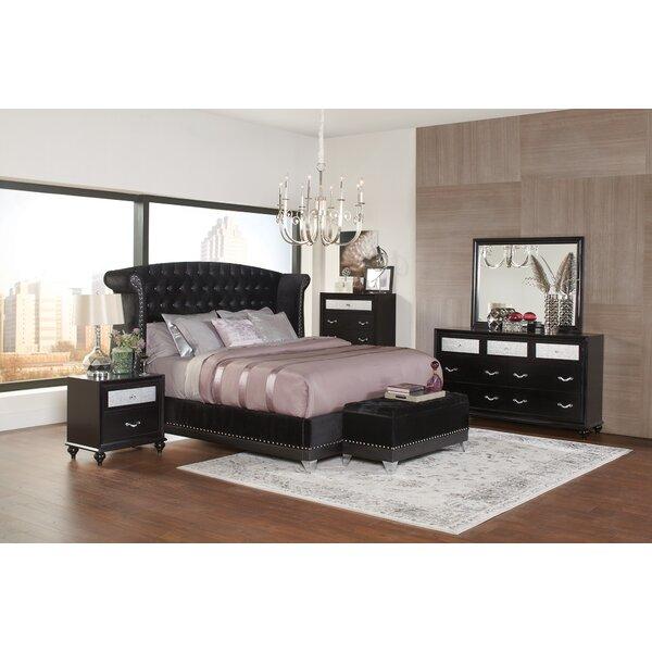 Eugene Upholstered Standard Bed by Rosdorf Park
