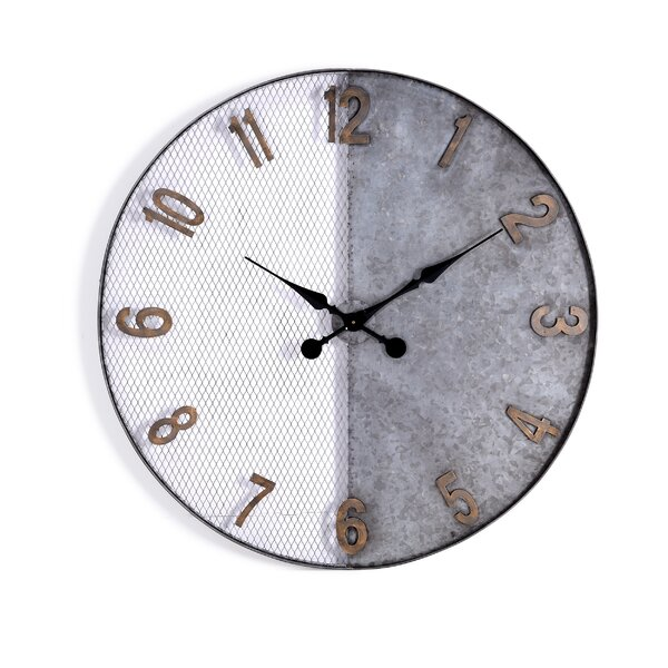 Oversized Witmer 36 Wall Clock by Gracie Oaks
