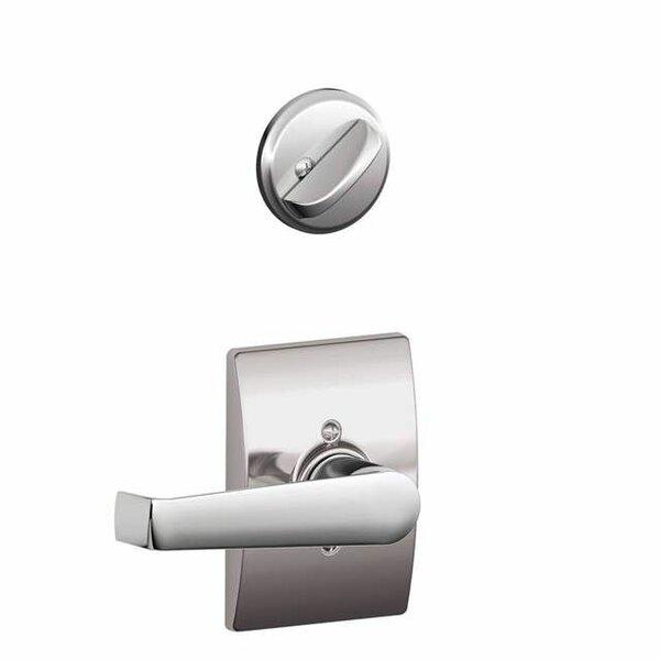 Interior Handleset Elan Lever and Interior Single Cylinder Deadbolt Thumbturn with Century Trim by Schlage
