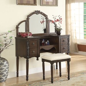 Ashton Vanity Set with Mirror by A&J Homes Studio