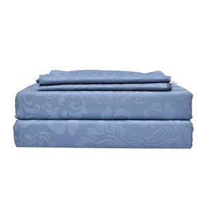 Breslin Genuine Jacquard 350 Thread Count Damask 100% Cotton Sheet Set ByHouse of Hampton