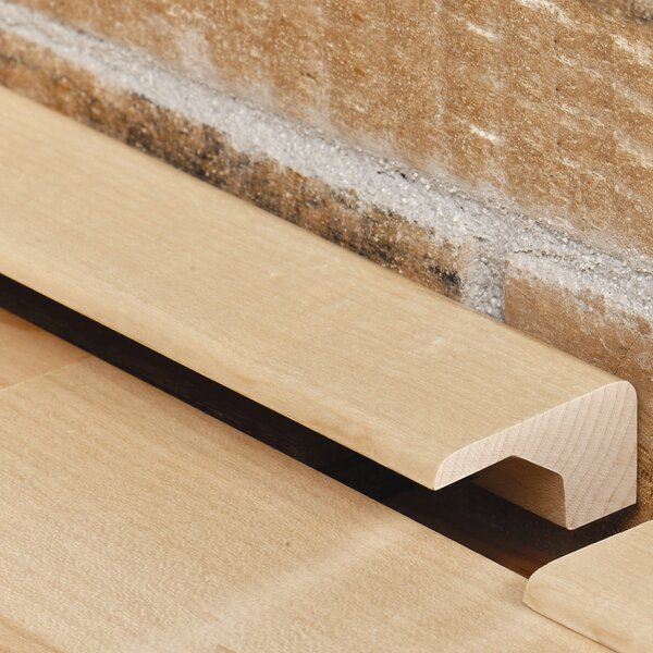 0.38 x 1.17 x 78 Red Oak Square Nose by Moldings Online