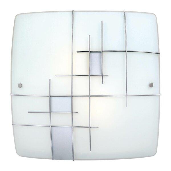 Rabia 1 2-Light Flush Mount by Ebern Designs