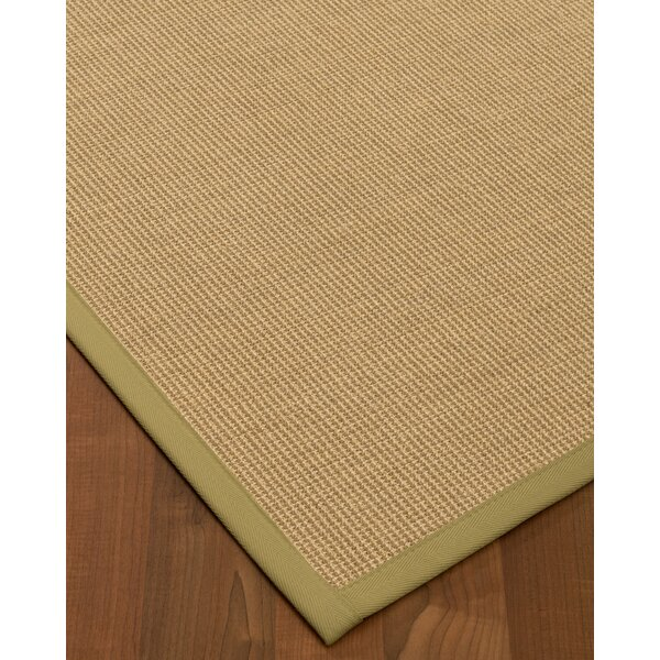 Atwell Border Hand-Woven Beige Area Rug by Bayou Breeze