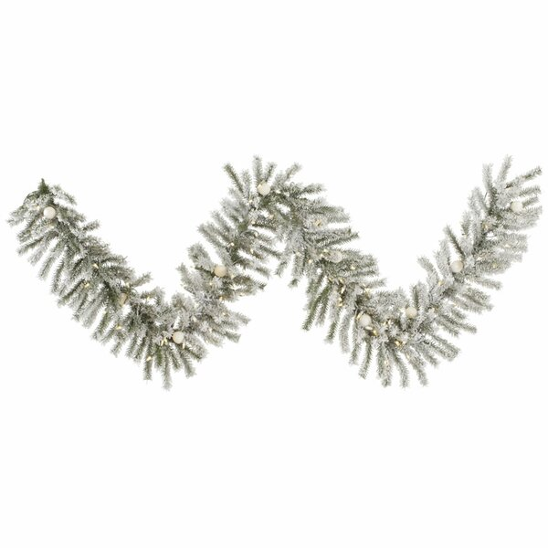 Flocked London Garland by The Holiday Aisle