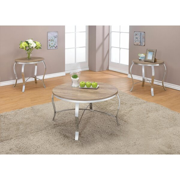 Bennay Wooden Weathered 3 Piece Coffee Table Set By Brayden Studio®