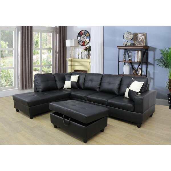 Online Shopping Bargain Caledian Sectional with Ottoman by Ebern Designs by Ebern Designs