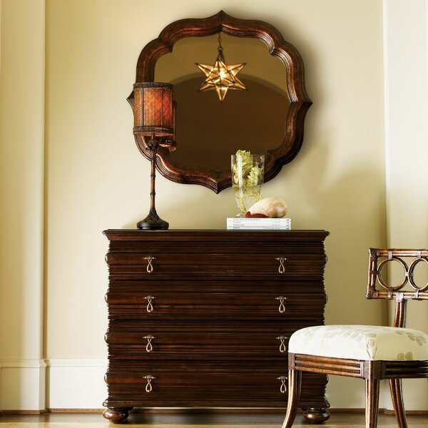 Royal Kahala 4 Drawer Dresser with Mirror by Tommy